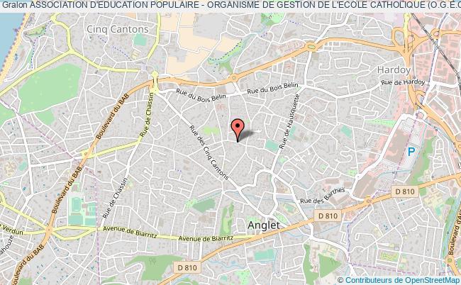 plan association Association D'education Populaire - Organisme De Gestion De L'ecole Catholique (o.g.e.c.) Sainte-bernadette