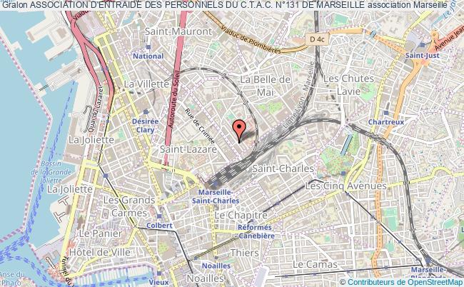 plan association Association D'entraide Des Personnels Du C.t.a.c. N°131 De Marseille