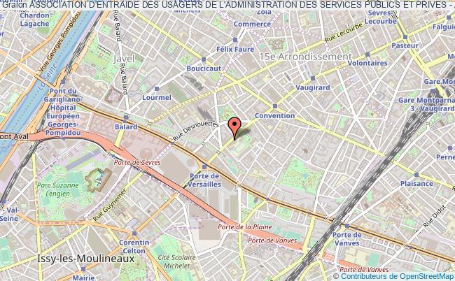 plan association Association D'entraide Des Usagers De L'administration Des Services Publics Et Prives - Adua Paris