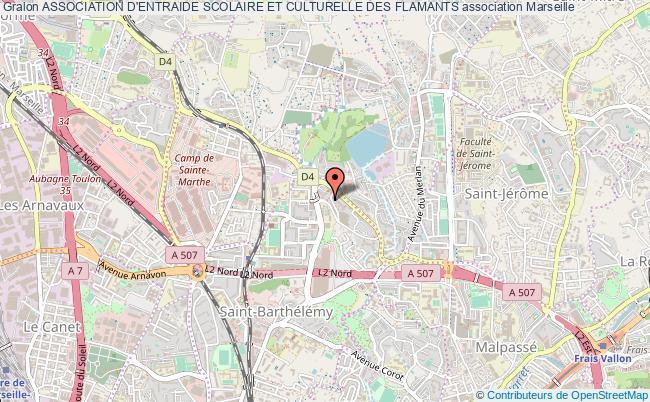 plan association Association D'entraide Scolaire Et Culturelle Des Flamants
