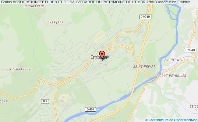 plan association Association D'etudes Et De Sauvegarde Du Patrimoine De L'embrunais