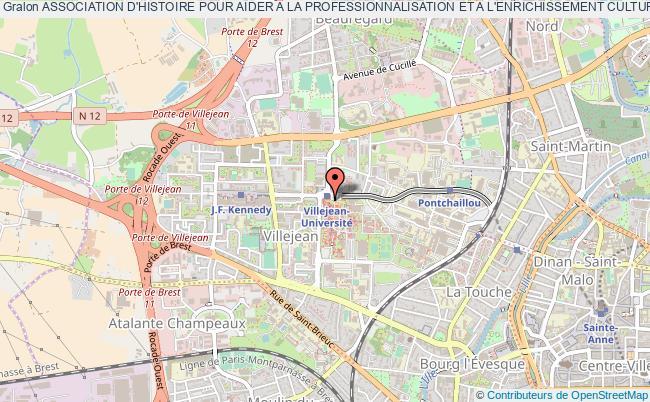 plan association Association D'histoire Pour Aider A La Professionnalisation Et A L'enrichissement Culturel Des Étudiants (a.d.h.a.p.e.c.)