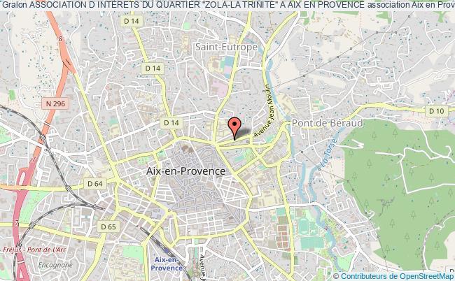 "plan association Association D Interets Du Quartier ""zola-la Trinite"" A Aix En Provence"