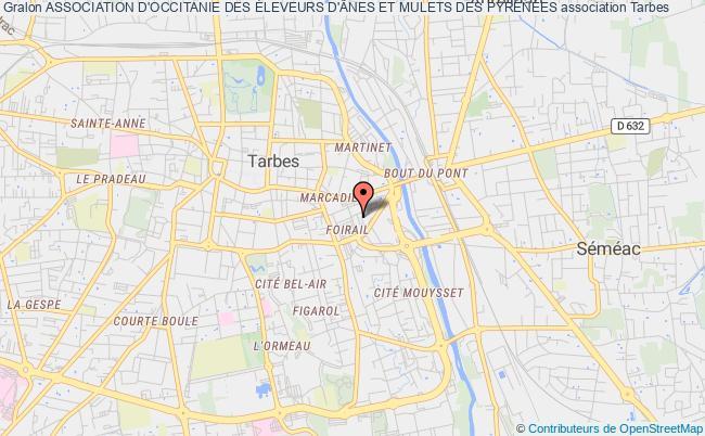 plan association Association D'occitanie Des Éleveurs D'Ânes Et Mulets Des PyrÉnÉes Tarbes