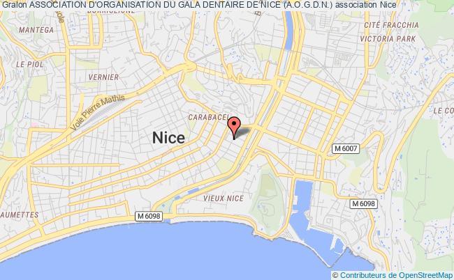 plan association Association D'organisation Du Gala Dentaire De Nice (a.o.g.d.n.) Nice