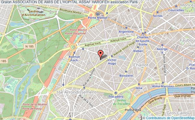 plan association Association De Amis De L'hopital Assaf Harofeh Paris