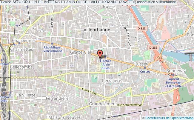 plan association Association De Anciens Et Amis Du Geii Villeurbanne (aaageii)