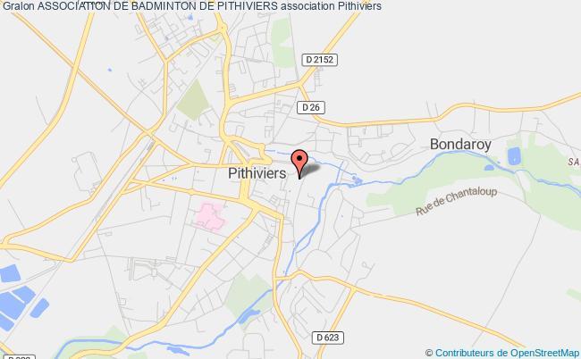 plan association Association De Badminton De Pithiviers