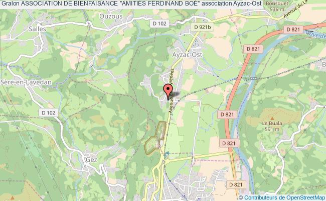 """plan association Association De Bienfaisance """"amitiÉs Ferdinand BoÉ"""" Ayzac-Ost"""