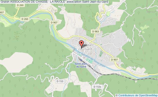 plan association Association De Chasse ' La Raiole'