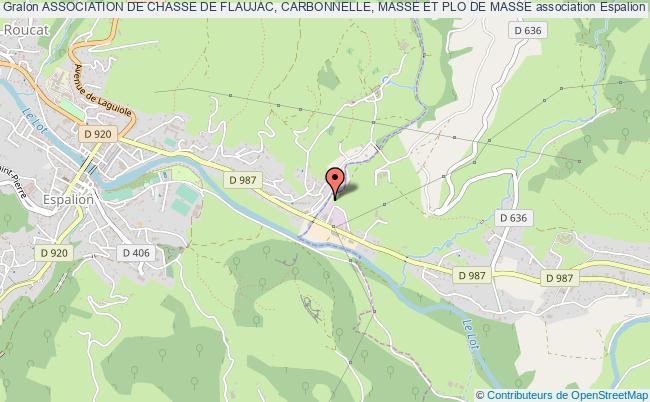 plan association Association De Chasse De Flaujac, Carbonnelle, Masse Et Plo De Masse