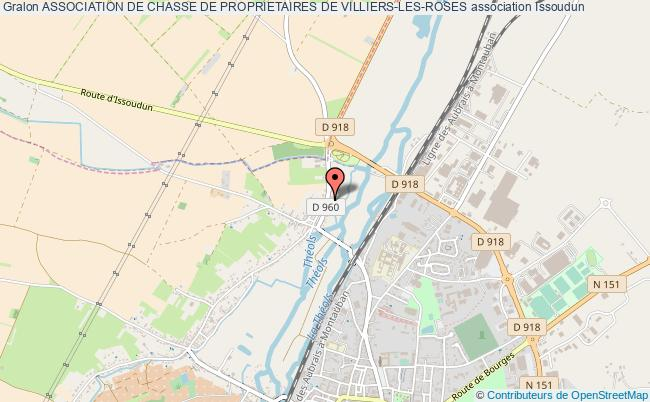 plan association Association De Chasse De Proprietaires De Villiers-les-roses Issoudun