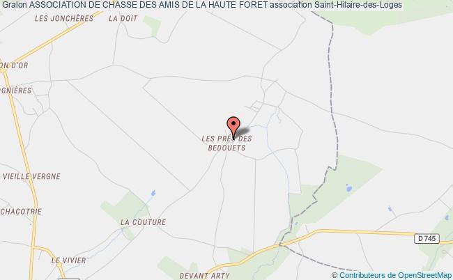 plan association Association De Chasse Des Amis De La Haute Foret