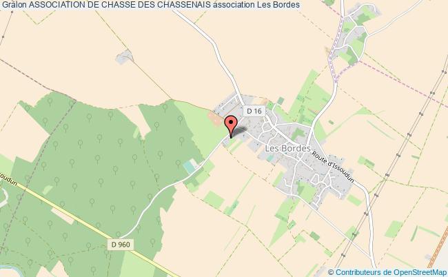 plan association Association De Chasse Des Chassenais Les   Bordes