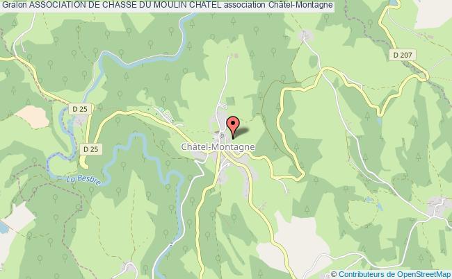plan association Association De Chasse Du Moulin Chatel Châtel-Montagne