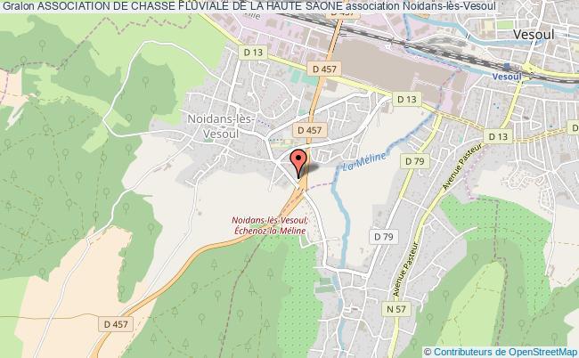 plan association Association De Chasse Fluviale De La Haute Saone Noidans-lès-Vesoul