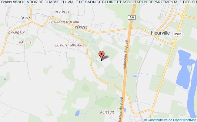 plan association Association De Chasse Fluviale De Saone-et-loire Et Association Departementale Des Chasseurs  De Gibier D'eau De Saone-et-loire