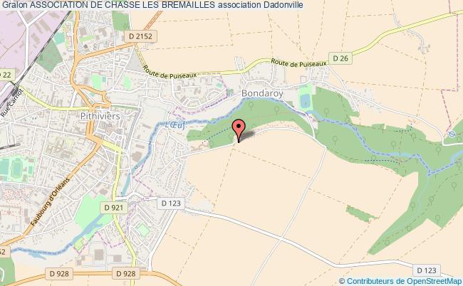 plan association Association De Chasse Les Bremailles