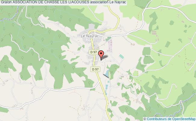 plan association Association De Chasse Les Liacouses