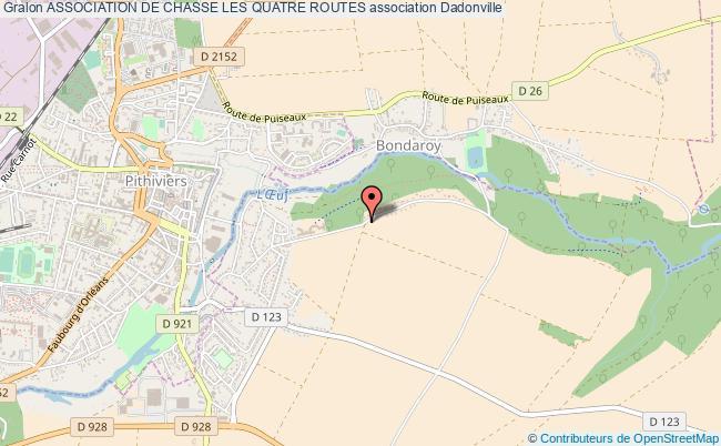 plan association Association De Chasse Les Quatre Routes