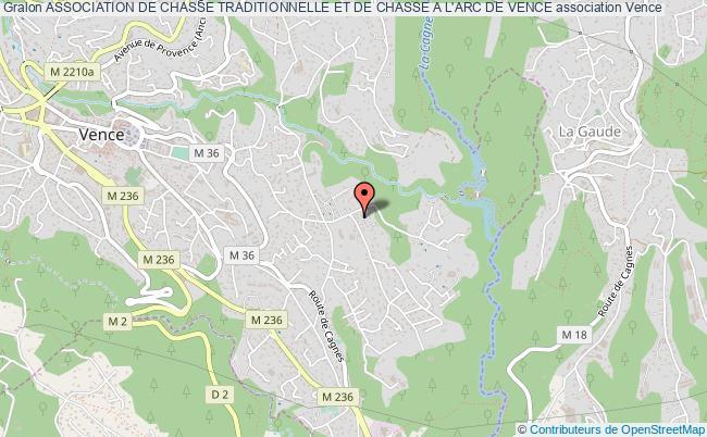 plan association Association De Chasse Traditionnelle Et De Chasse A L'arc De Vence