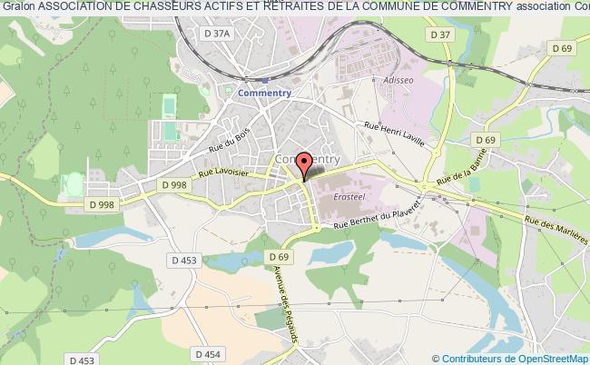 plan association Association De Chasseurs Actifs Et Retraites De La Commune De Commentry