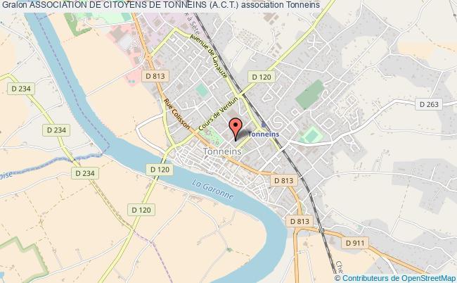 plan association Association De Citoyens De Tonneins (a.c.t.) Tonneins