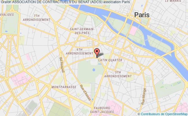 plan association Association De Contractuels Du Senat (adcs) Paris