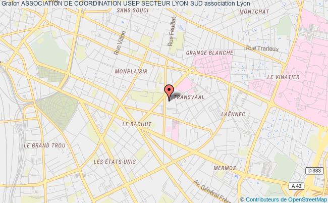 plan association Association De Coordination Usep Secteur Lyon Sud