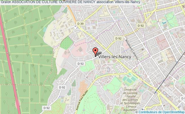 plan association Association De Culture Ouvriere De Nancy