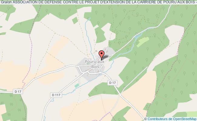 plan association Association De Defense Contre Le Projet D'extension De La Carriere De Pouru Aux Bois - Association Dite Elysee De Montagnac