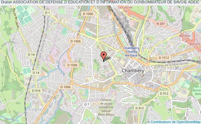 plan association Association De Defense D Education Et D Information Du Consommateur De Savoie Adeic 73