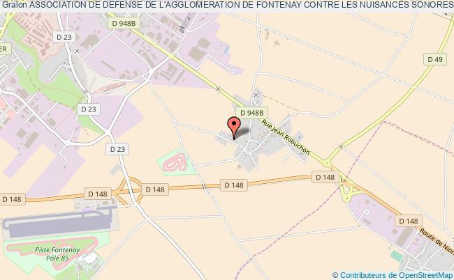 plan association Association De Defense De L'agglomeration De Fontenay Contre Les Nuisances Sonores