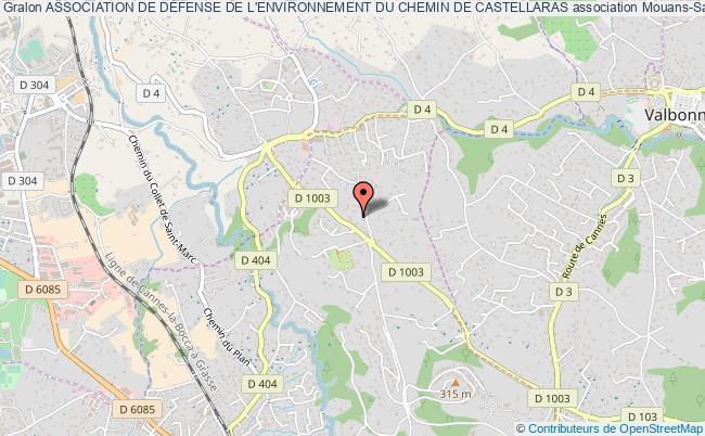 plan association Association De DÉfense De L'environnement Du Chemin De Castellaras Mouans-Sartoux