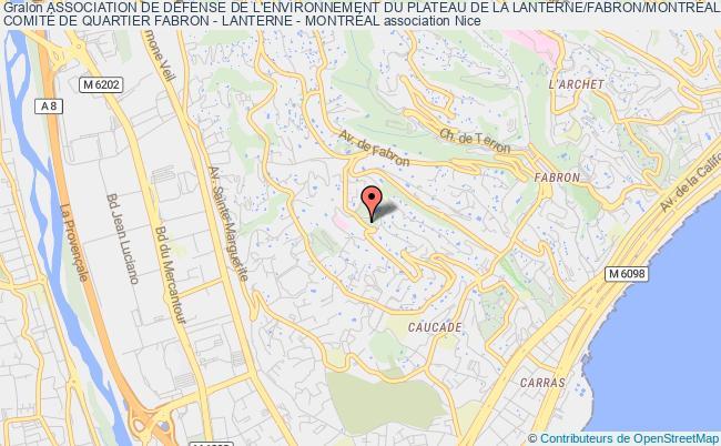 plan association Association De Defense De L'environnement Du Plateau De La Lanterne/fabron/montreal - Nice (a D E P L A N) Nice