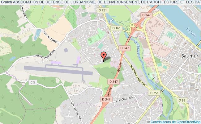 """plan association Association De DÉfense De L'urbanisme, De L'environnement, De L'architecture Et Des BÂtiments Historiques Du Saumurois - """"a.d.u.e.s"""""""