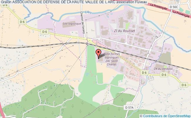 plan association Association De Defense De La Haute Vallee De L Arc