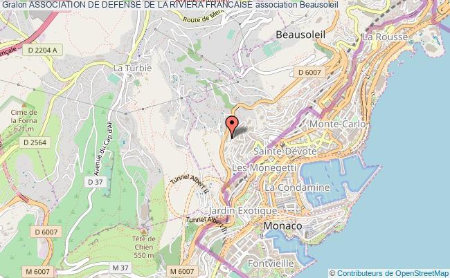 plan association Association De Defense De La Riviera Francaise