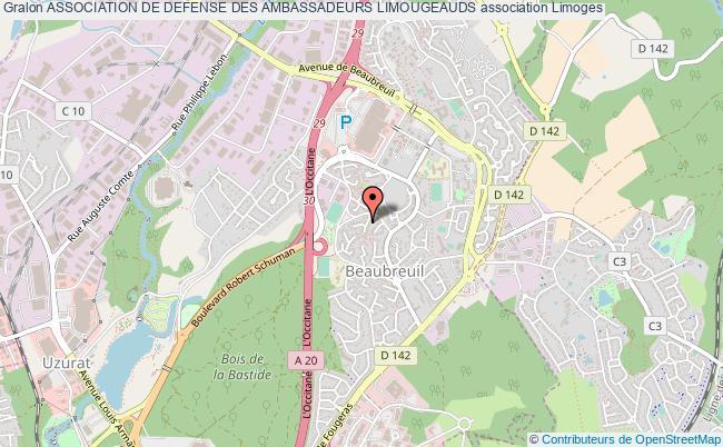 plan association Association De Defense Des Ambassadeurs Limougeauds