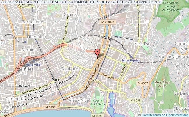 plan association Association De Defense Des Automobilistes De La Cote D'azur