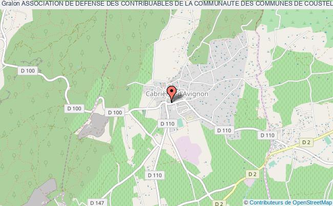 plan association Association De Defense Des Contribuables De La Communaute Des Communes De Coustellet Et Des Communes De Cabrieres D Avignon Lagnes Maubec Oppede Robion