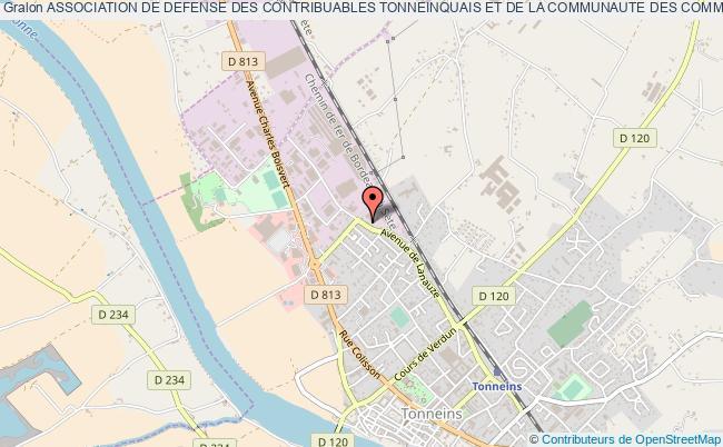plan association Association De Defense Des Contribuables Tonneinquais Et De La Communaute Des Communes Du Val De Garonne (ccvg)