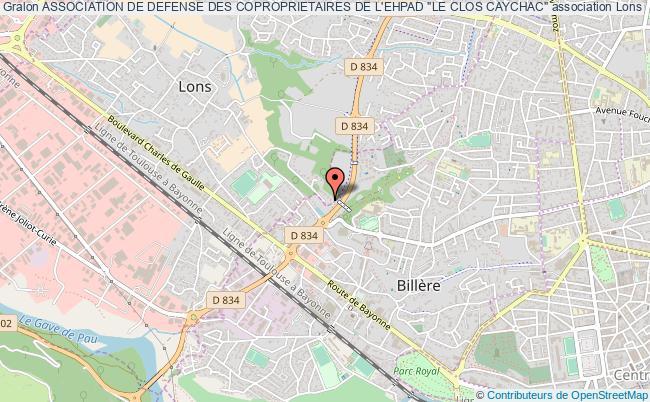 """plan association Association De Defense Des Coproprietaires De L'ehpad """"le Clos Caychac"""""""