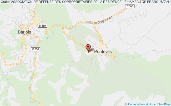 plan association Association De Defense Des Coproprietaires De La Residence Le Hameau De Praroustan