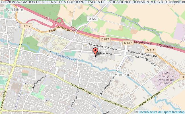 plan association Association De Defense Des Coproprietaires De La Residence Romarin  A.d.c.r.r.