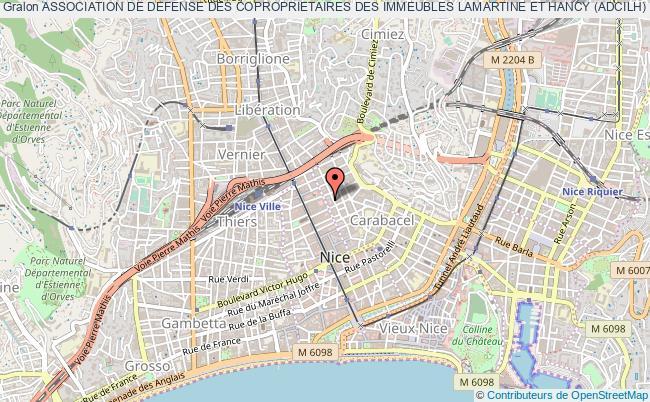 plan association Association De Defense Des Coproprietaires Des Immeubles Lamartine Et Hancy (adcilh) Nice