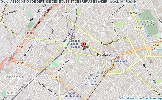 plan association Association De Defense Des Exiles Et Des Refugies (ader)