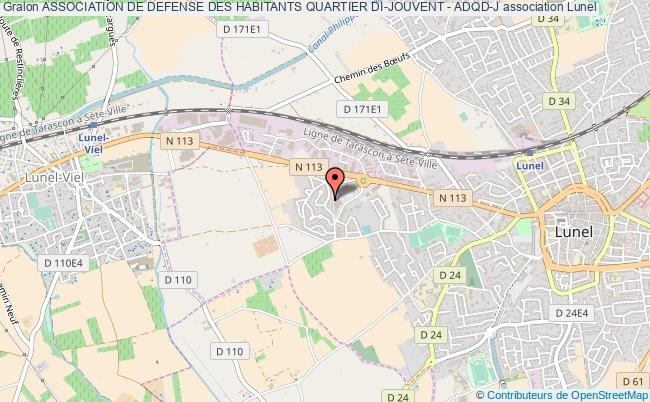 plan association Association De Defense Des Habitants Quartier Di-jouvent - Adqd-j