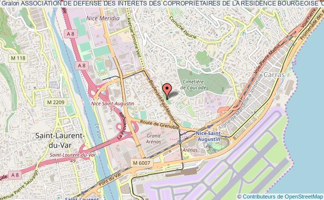 plan association Association De Defense Des Interets Des Coproprietaires De La Residence Bourgeoise 'c.i. Les Moulins' Nice