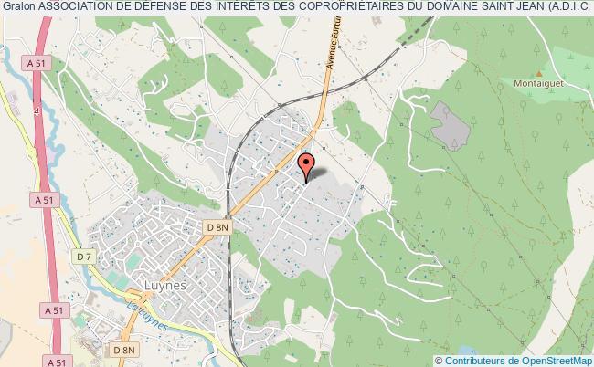 plan association Association De DÉfense Des IntÉrÊts Des CopropriÉtaires Du Domaine Saint Jean (a.d.i.c. Domaine Saint Jean)